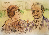 Edvard Munch Elsa and Curt Glaser