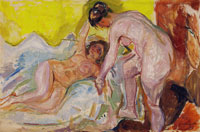 Edvard Munch Female Nudes, Standing and Lying Down