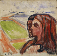 Edvard Munch Head by Head in Landscape