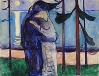 Edvard Munch Kiss on the Shore by Moonlight