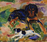 Edvard Munch Large and Small Dog