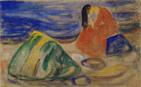 Edvard Munch Melancholy. Weeping Woman on the Beach