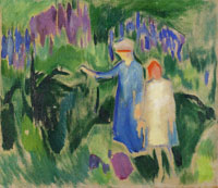 Edvard Munch Mother and Daughter in the Garden
