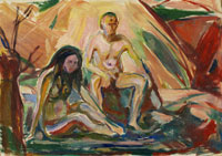 Edvard Munch Naked Man and Woman, Seated