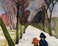 Edvard Munch New Snow in the Avenue