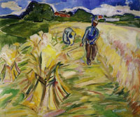 Edvard Munch Reaping the Corn