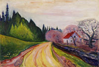 Edvard Munch The Road to Borre