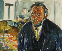 Edvard Munch Self-Portrait after the Spanish Flu
