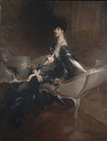Giovanni Boldini Consuelo Vanderbilt (1876-1964), Duchess of Marlborough, and Her Son, Lord Ivor Spencer-Churchill (1898-1956)