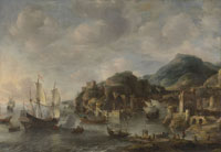 Jan Abrahamsz. Beerstraten Dutch Ships in a Foreign Port