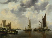 Jan van de Cappelle Seascape with Ships