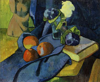 Paul Sérusier - Still Life with Apples and Violets
