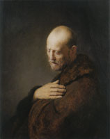 Circle of Rembrandt Old Man in Prayer