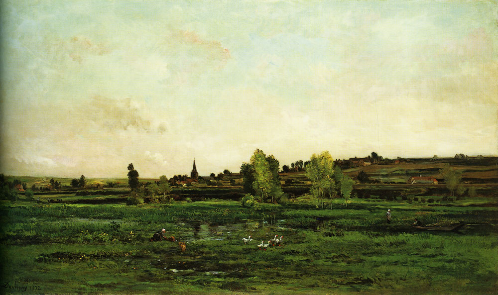 Charles-François Daubigny - Village on the Seine near Vernon
