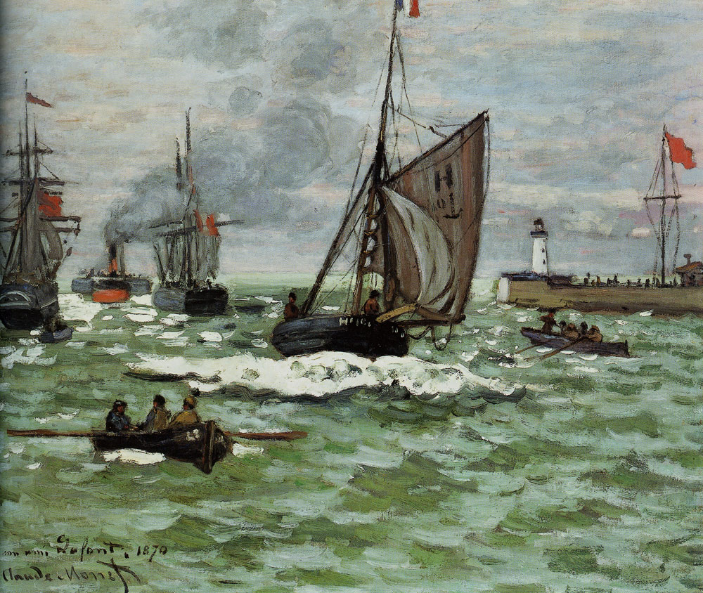 Claude Monet - The Entrance to the Port of Le Havre