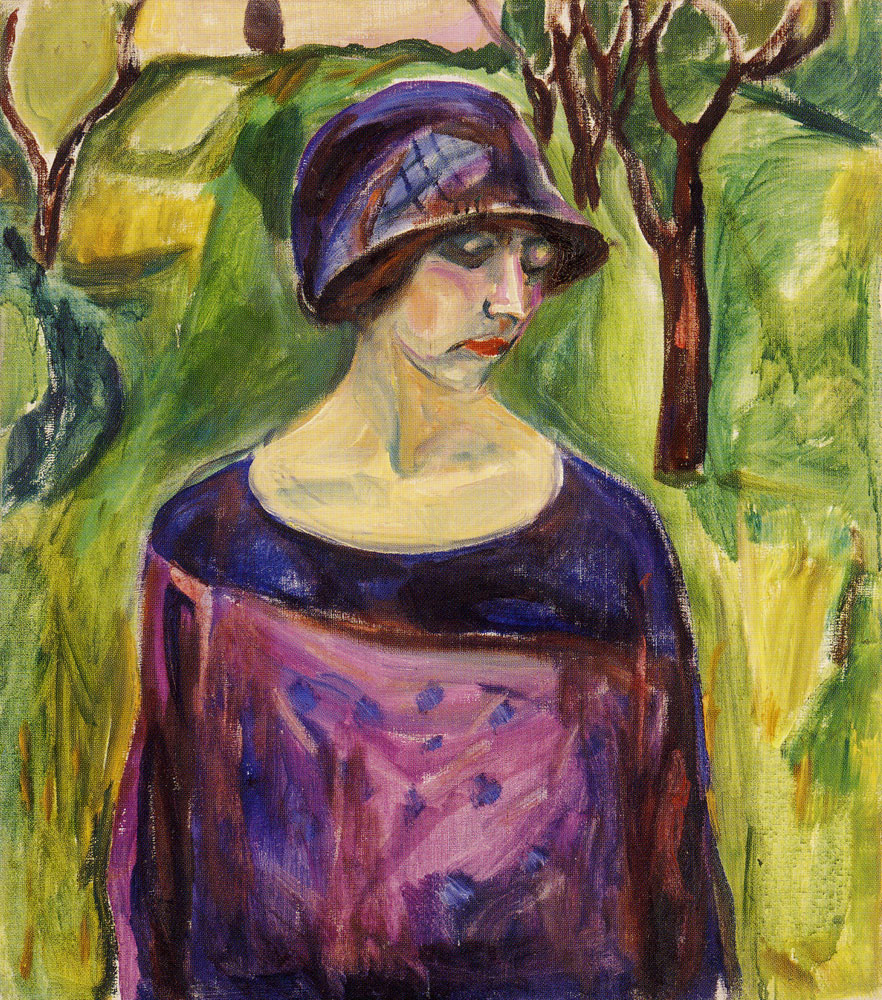 Edvard Munch - Birgit Prestøe in the Garden
