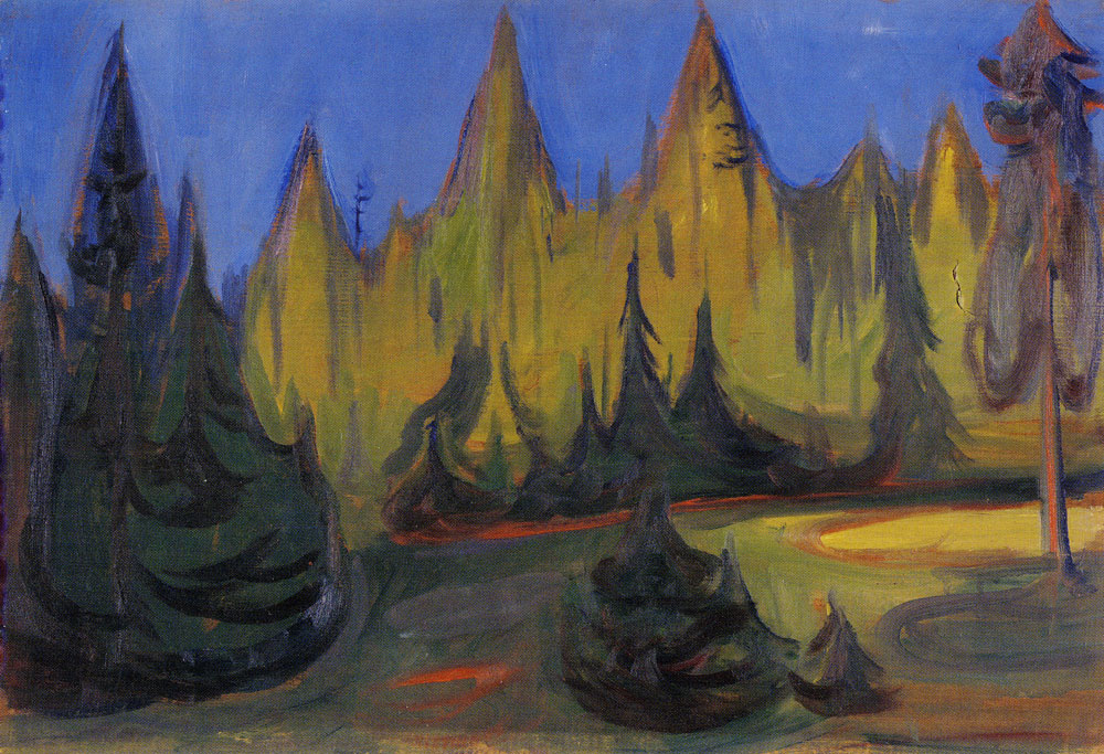 Edvard Munch - Dark Spruce Forest