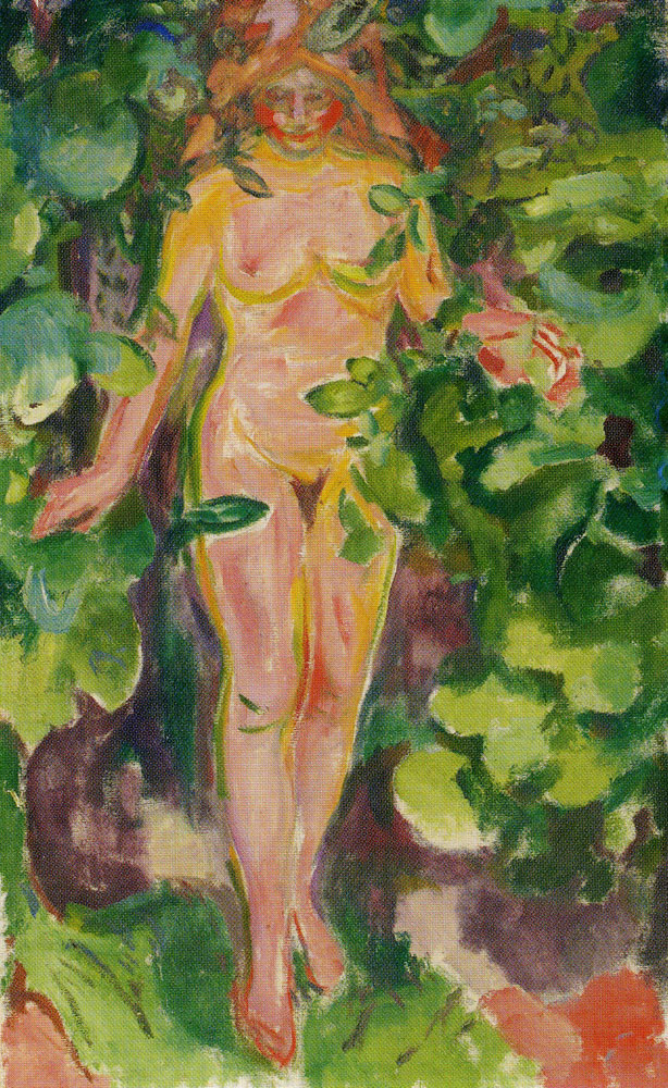 Edvard Munch - Female Nude in the Woods