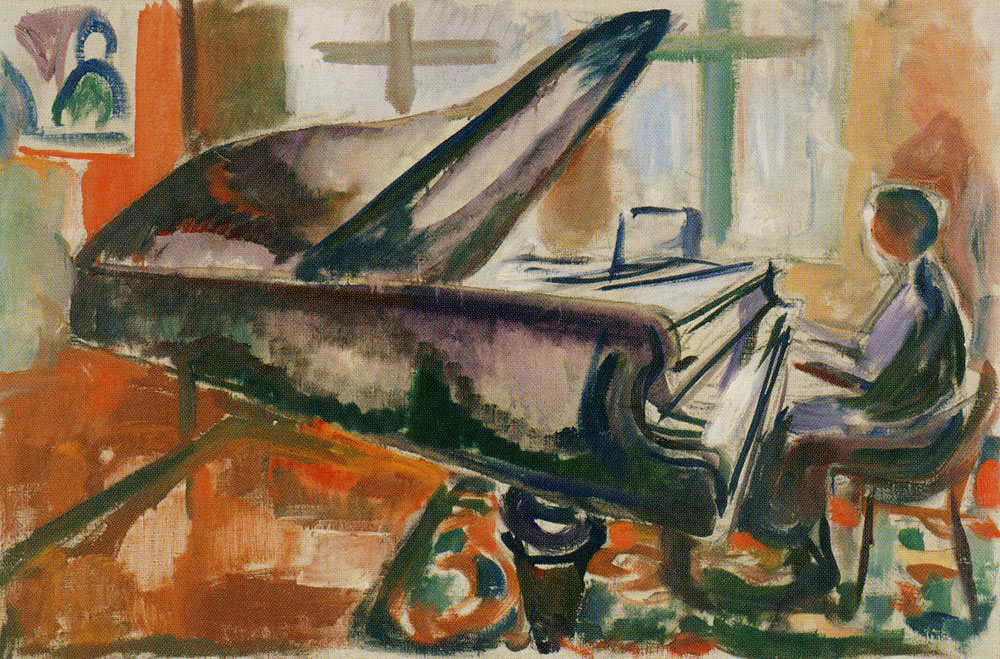 Edvard Munch - At the Grand Piano