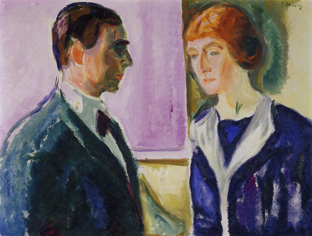 Edvard Munch - Käte and Hugo Perls