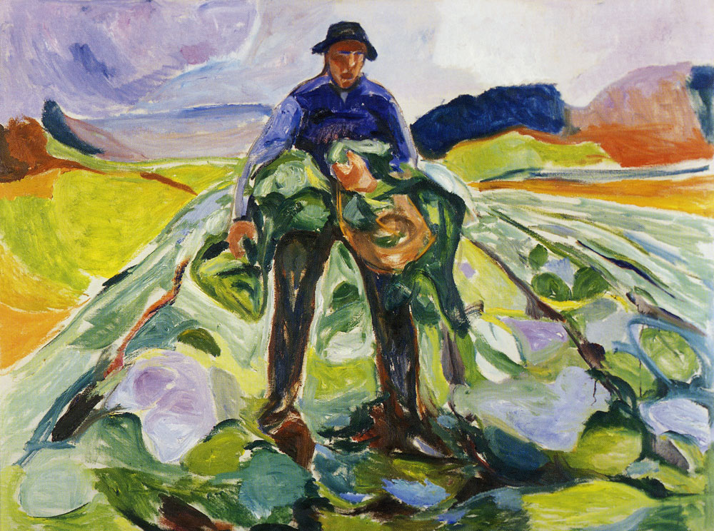 Edvard Munch - Man in the Cabbage Field