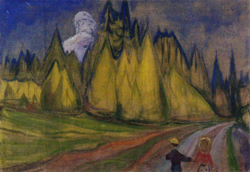 Edvard Munch - Two Children on Their Way to the Fairytale Forest