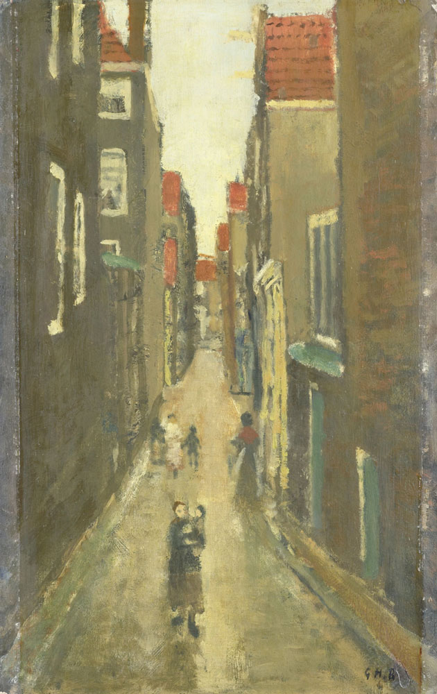 George Hendrik Breitner - Neighbourhood Street in The Jordaan, Amsterdam