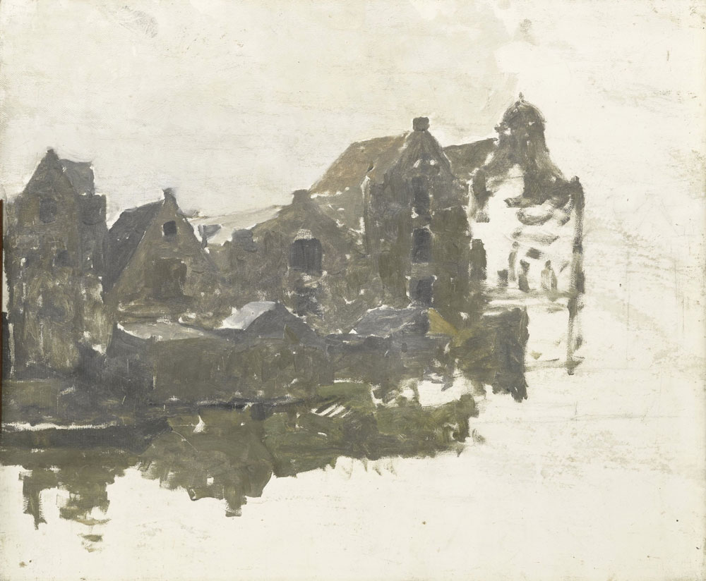 George Hendrik Breitner - Warehouses on the Teertuinen on the Prinseneiland, Amsterdam