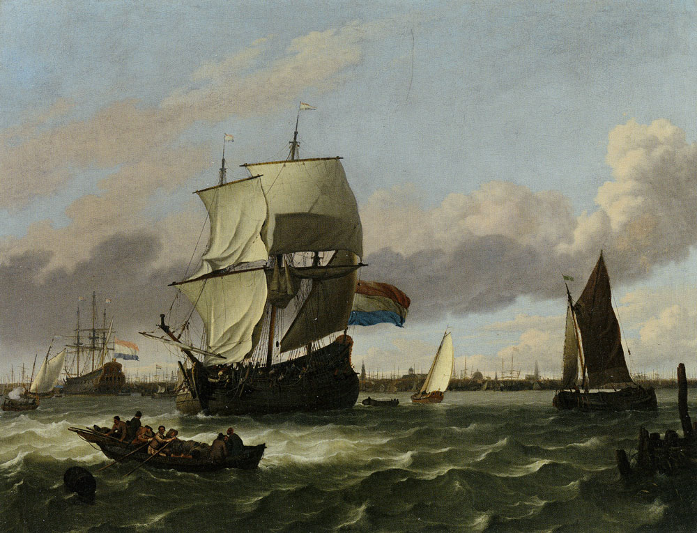 Ludolf Backhuysen - The Harbour of Antwerp