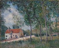 Alfred Sisley The Road from Moret to Saint-Mammès