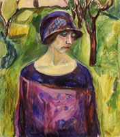 Edvard Munch Birgit Prestøe in the Garden