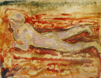 Edvard Munch Boy Lying on His Stomach