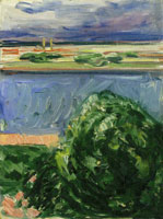 Edvard Munch Canal with Dark Clouds
