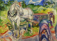 Edvard Munch Digging Men with Horse and Cart