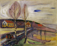 Edvard Munch Early Spring in Åsgårdstrand