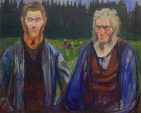 Edvard Munch Father and Son