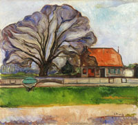 Edvard Munch Landscape by Travemünde