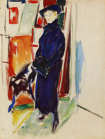 Edvard Munch Model with Hat and Coat