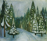 Edvard Munch New Snow
