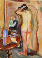 Edvard Munch Nude in Front of the Mirror