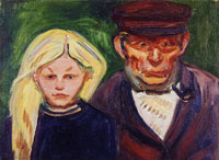 Edvard Munch Old Fisherman and His Daughter