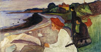 Edvard Munch Young People on the Beach (the Linde Frieze)