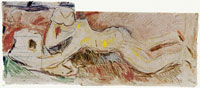Edvard Munch The Researchers: Boy Lying on His Stomach