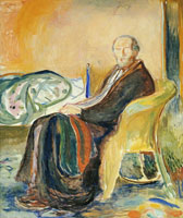 Edvard Munch Self-Portrait with the Spanish Flu