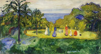 Edvard Munch Summer in the Park (the Linde Frieze)