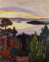 Edvard Munch Sunset, Nordstrand