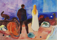 Edvard Munch - Two Human Beings, te Lonely Ones