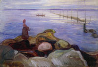 Edvard Munch Woman by the Sea in Åsgårdstrand