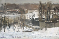 George Hendrik Breitner View of the Oosterpark, Amsterdam, in the Snow
