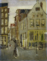 George Hendrik Breitner The Lauriergracht near the Tweede Leliedwarsstraat, Amsterdam